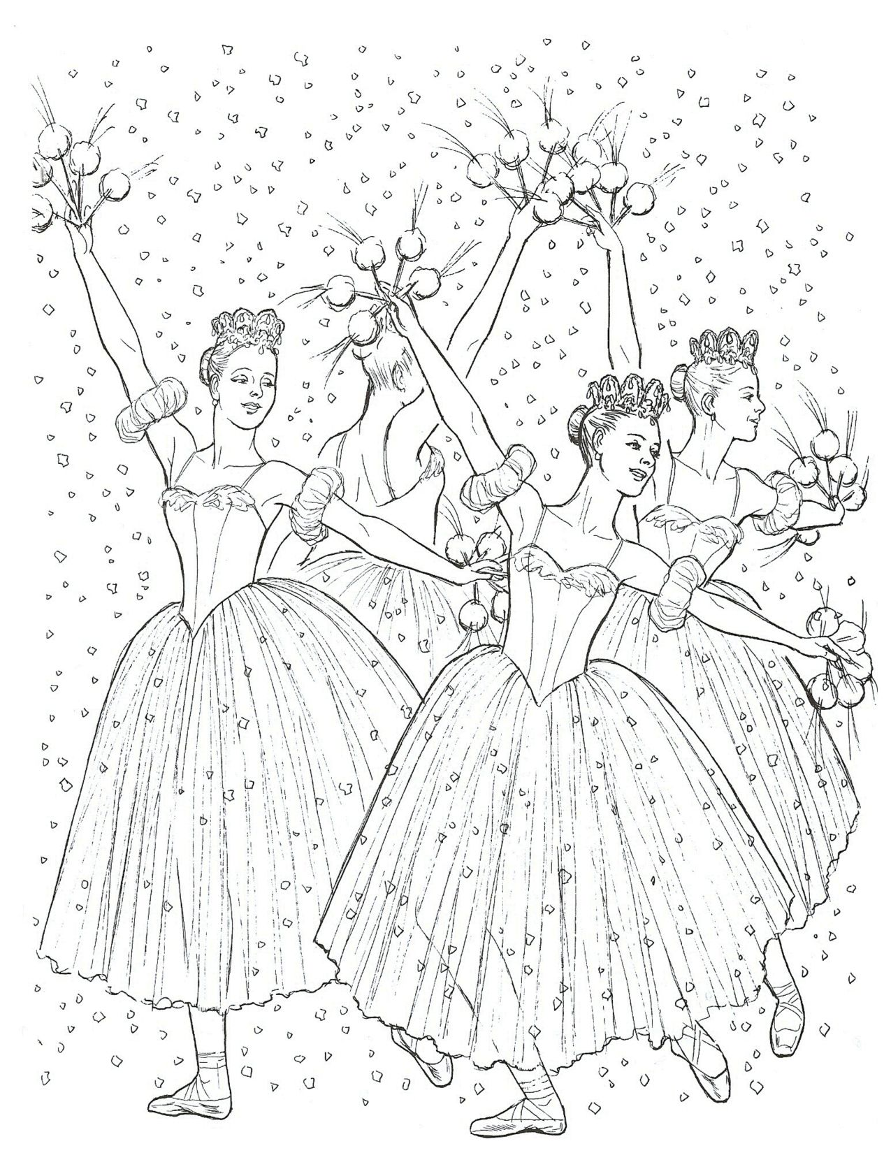 Nutcracker Coloring Page Dance Coloring Pages