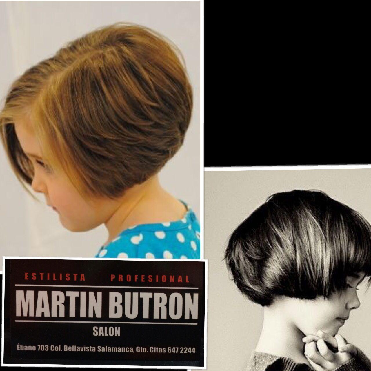 Corte de cabello de mujer y niña facebook estetica martín butron