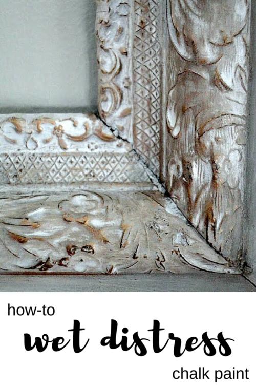 Wet Distressing With Annie Sloan Chalk Paint Muebles Pintados A Mano Acabado De Muebles Pintura Muebles