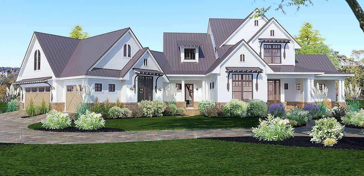 Elegant farmhouse living farmhouse floor plans