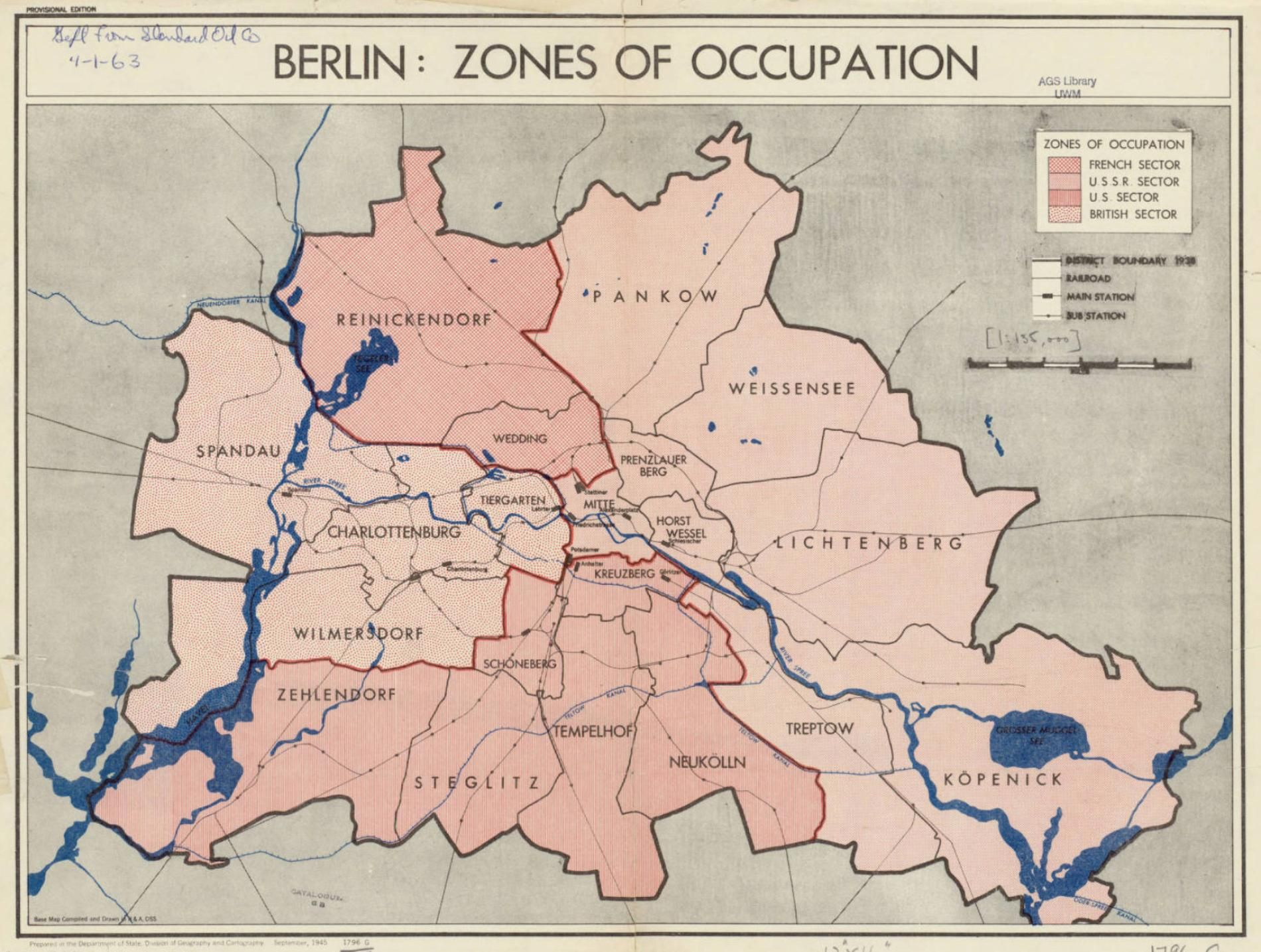 berlin zones of occupation 1945 map berlin germany deutschland