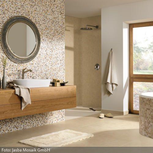 Bad mit natürlichem Strandlook | Bad | Badezimmerideen ...