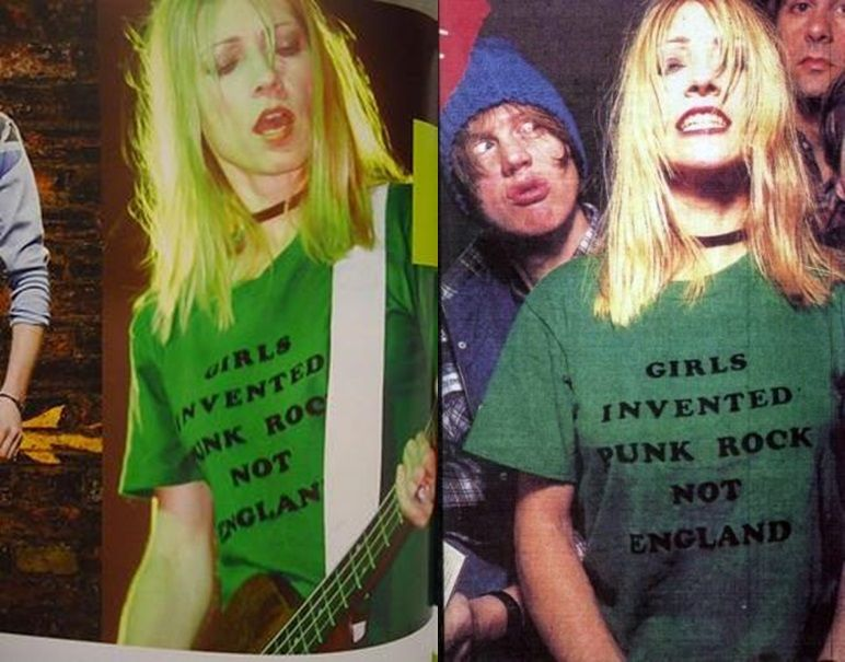 kim gordon sonic youth girls invented punk rock not england ink t shirts for women. Black Bedroom Furniture Sets. Home Design Ideas