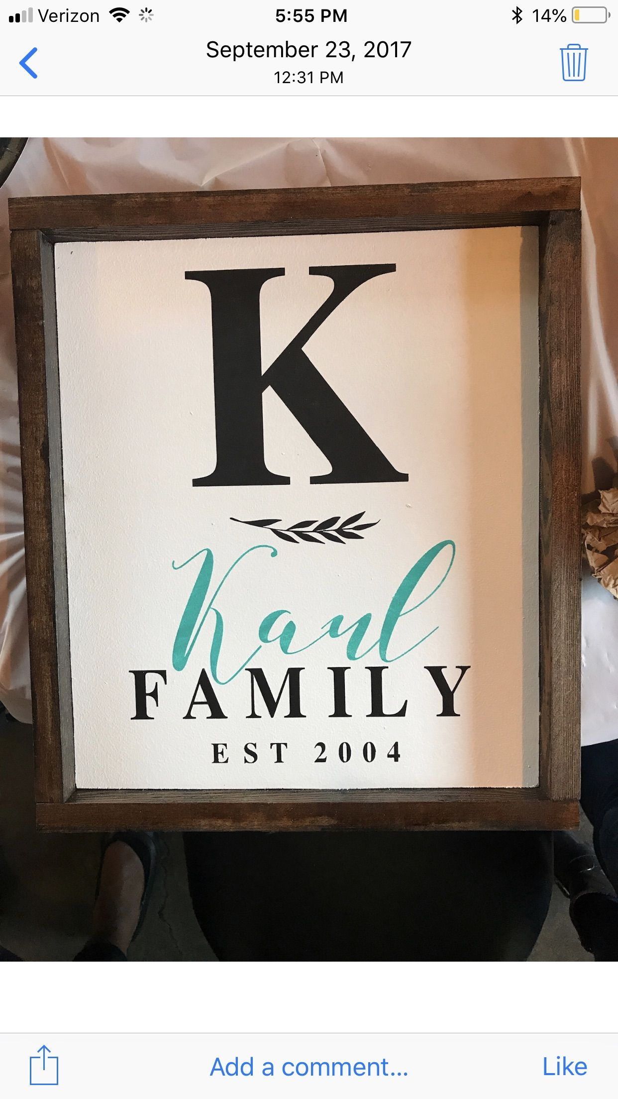 Wood Sign Quote Custom Cute Home Decor Simple Family Name Wood