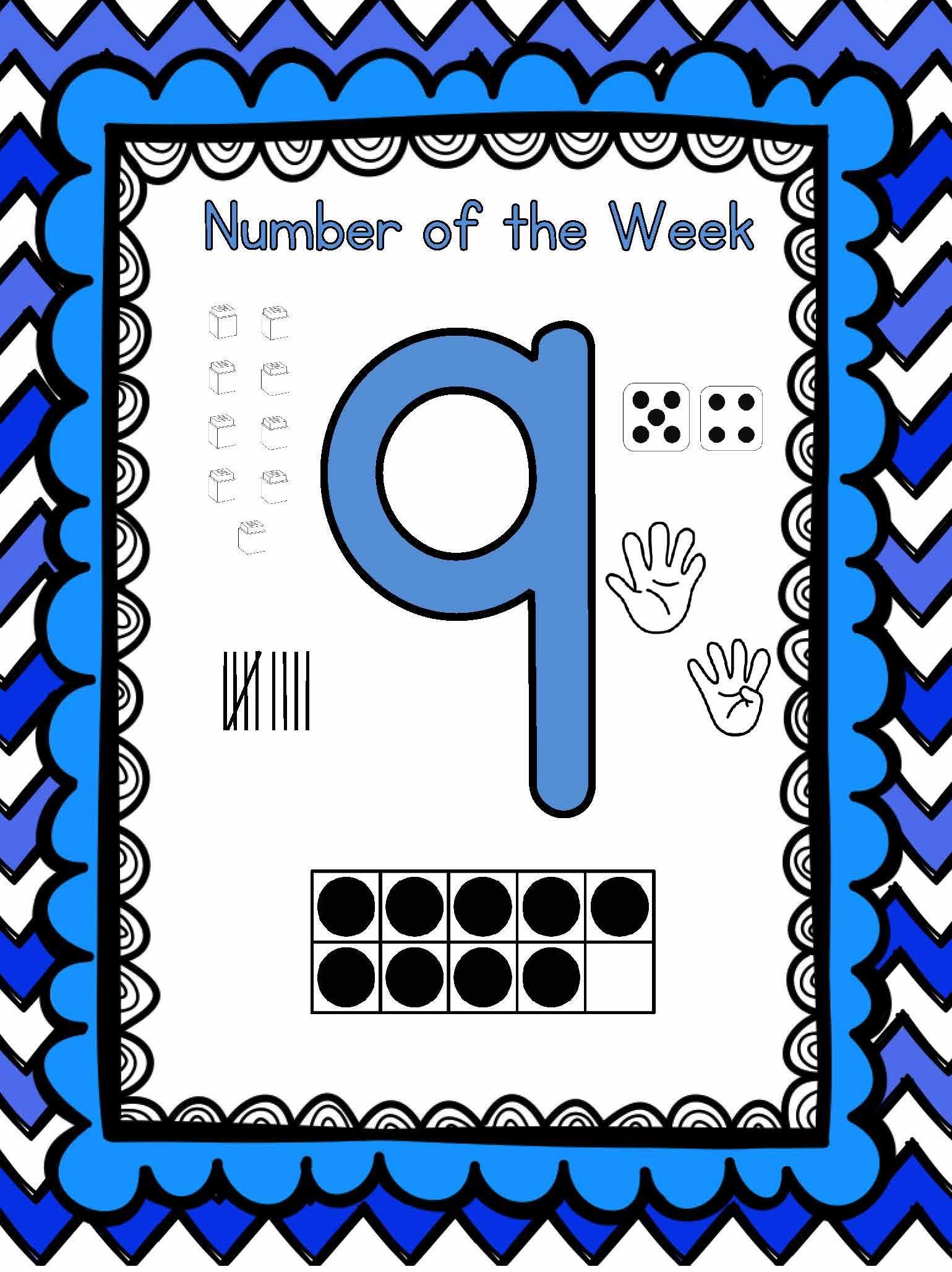 Pre Kindergarten Math Number Sense Numbers 1 30 Bundle