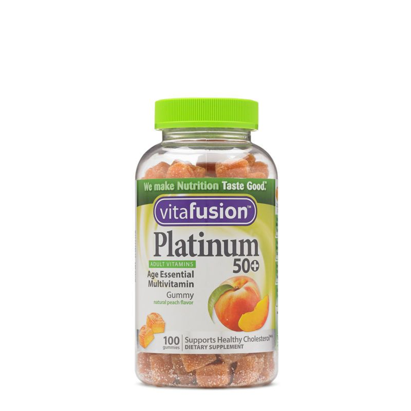 Vitafusion Platinum 50 Peach Buy Direct From Gnc Peach