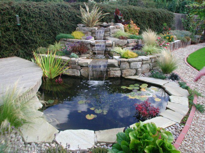 Charmant Wasserfall Im Garten Selber Bauen   99 Ideen, Wie Sie Die Harmonie Der  Natur Genießen