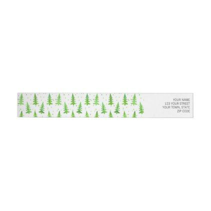 Watercolor Pine Trees Wrap Around Label Pine tree