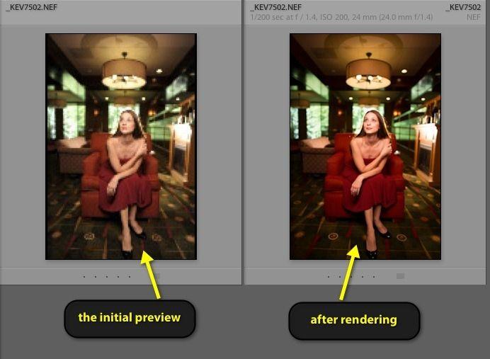 Lightroom render previews