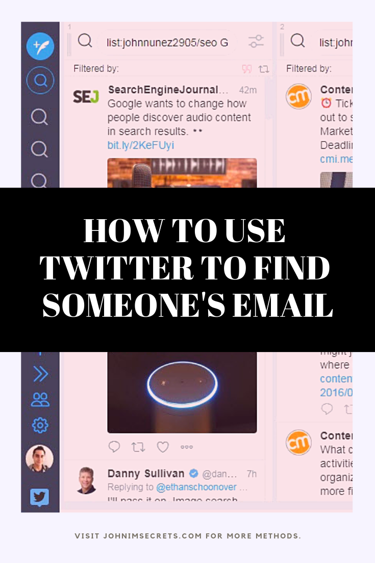 How To Find Someone S Email Address For Free John S Imsecrets Twitter For Business Twitter Marketing Strategy Twitter Marketing