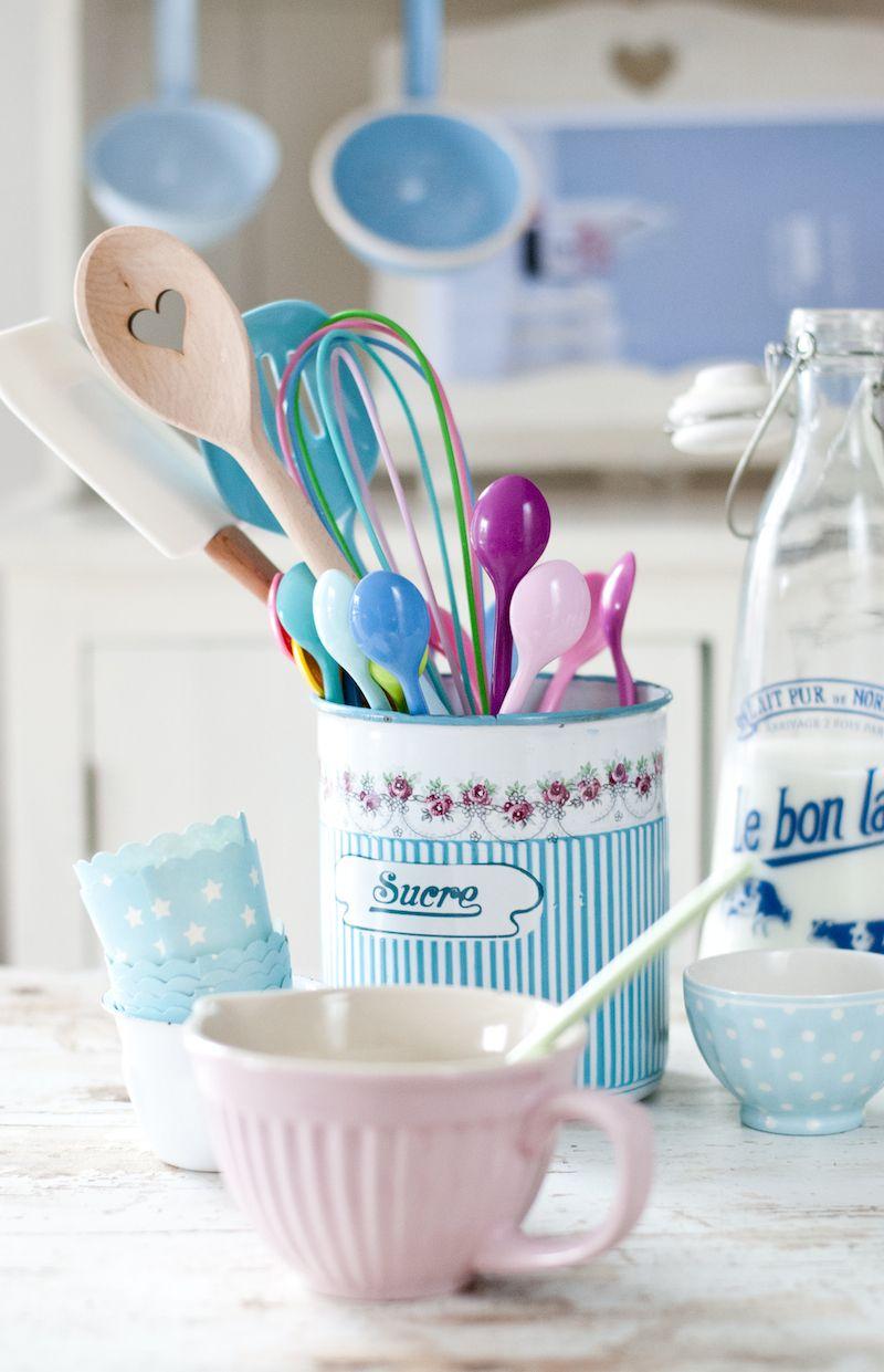 Pastels, Minty Huose kitchen, enamel, Ib Laursen, Rice | Kitchen ...