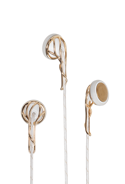 Earbuds apple old - apple headphones gold and white