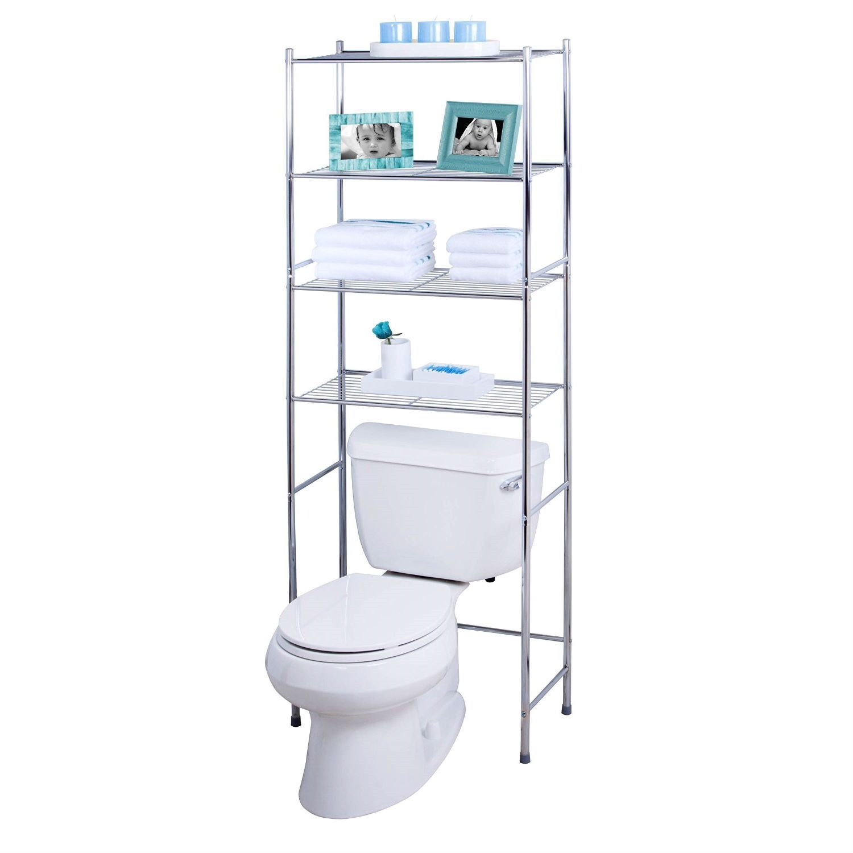 Bathroom Linen Tower Over The Toilet