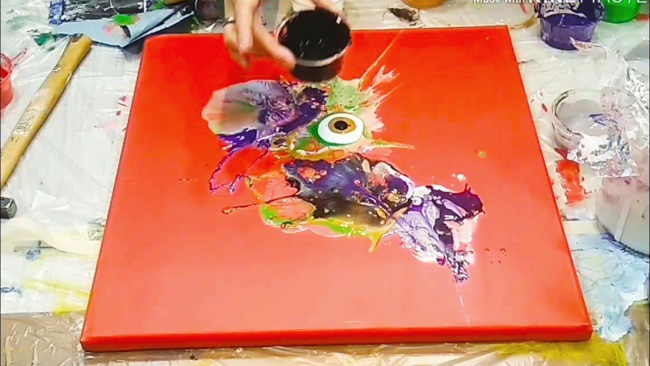 Fluid Art Hit It Hammer Method Also On A Dry Background Acrylic Paint Fluid Art Acrylic Pouring Acrylic