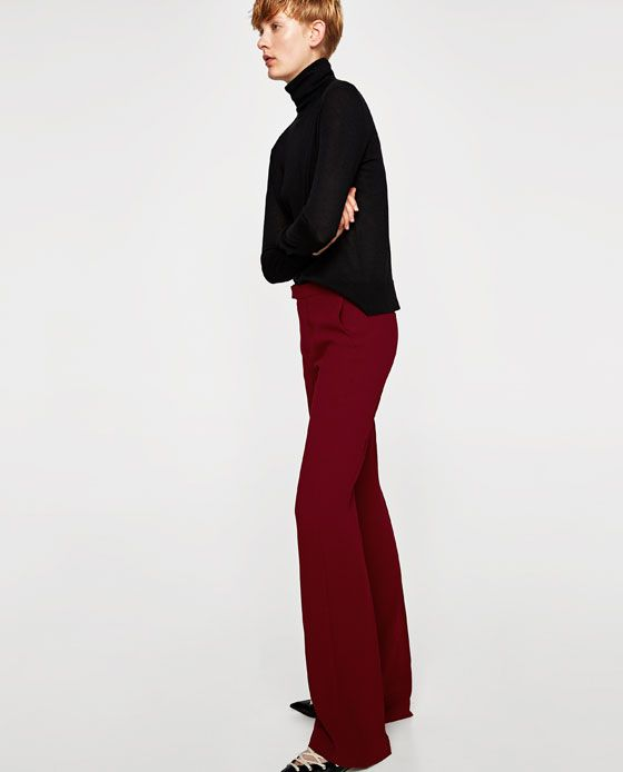 Image 4 of FLARED FLOWING TROUSERS from Zara  cc7ac14f8d9b