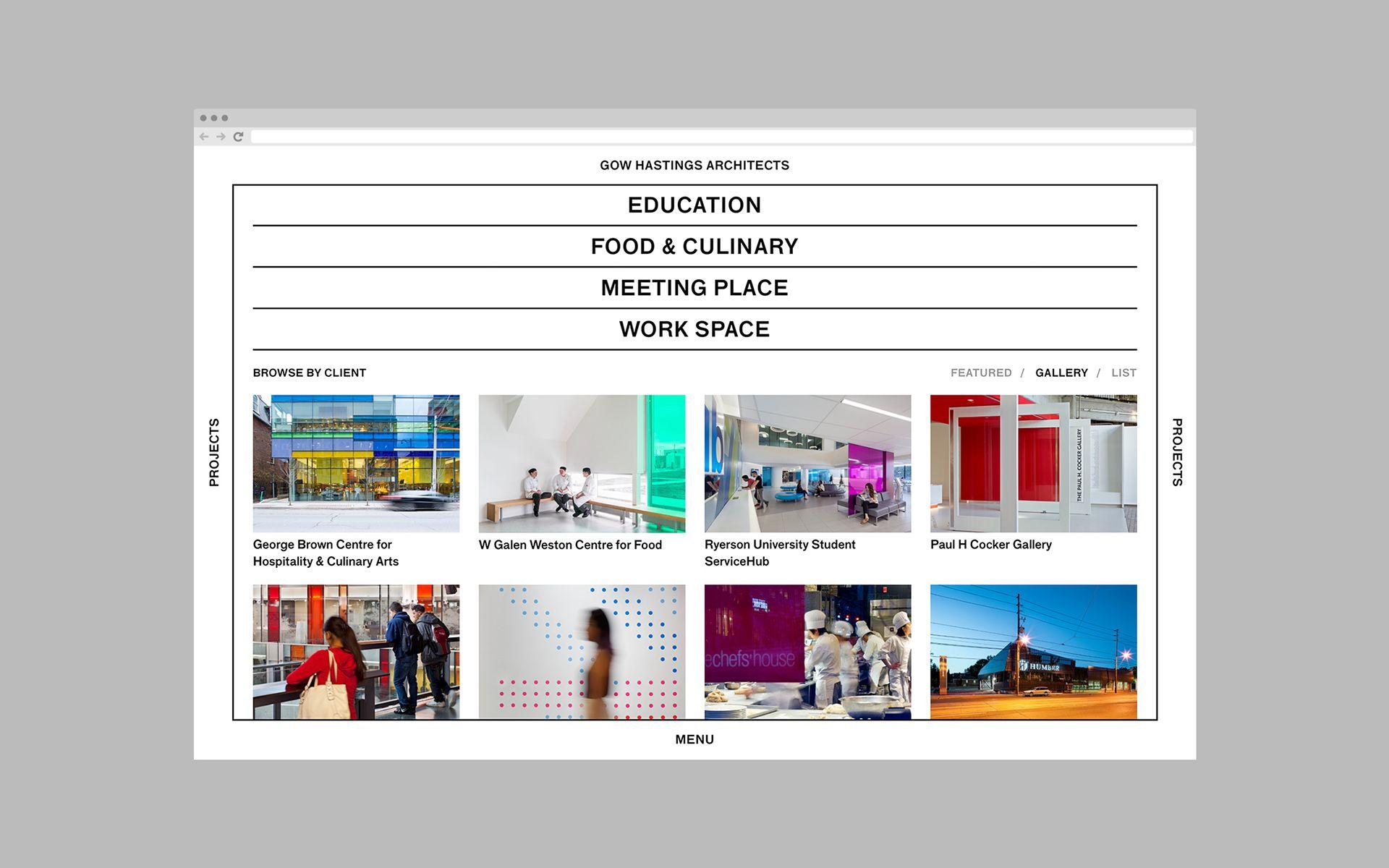 Gow Hastings Architects Website On Behance S Izobrazheniyami