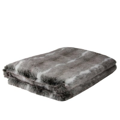 Millwood Pines Hillary Lovely Rustic White And Gray Faux Fur Super Soft Throw Blanket 50 X60 Soft Throw Blanket Striped Throw Blanket Super Soft Throw Blanket