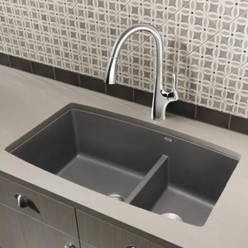 19 X 33 Blanco Performa Undermount Kitchen Sink Cinder