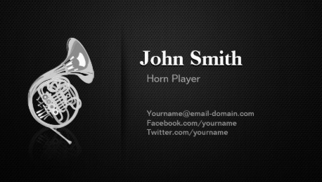 Music Business Card Template. business cards template set in ...