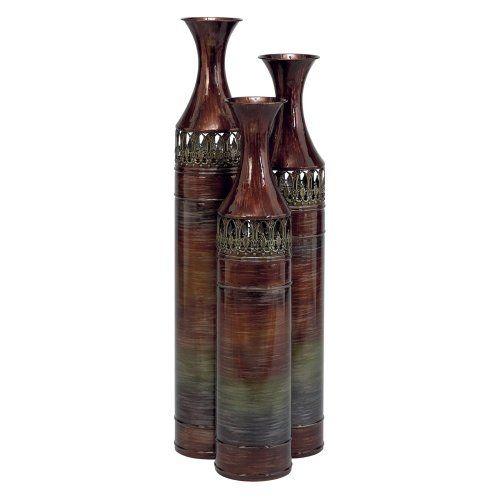 Aspire Home Accents 34h In Slender Floor Vases Set Of 3 Aspire