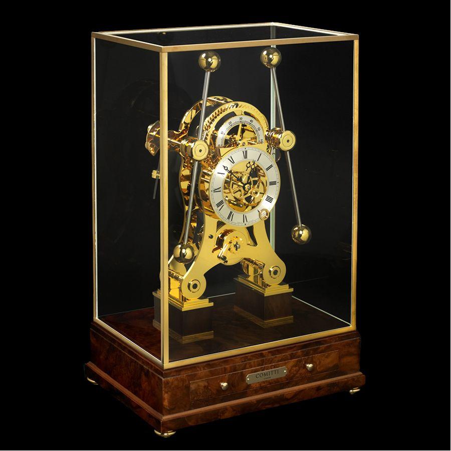 Grasshopper Clock Walnut Gold Trim Clock Antique Clocks Old Clocks