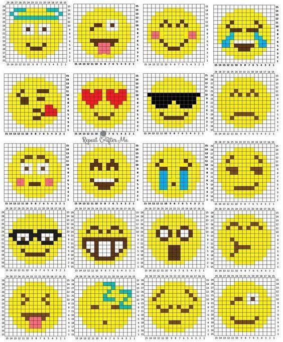 Grilles Pour Atc Serie 4 Crochet Pixel Points De