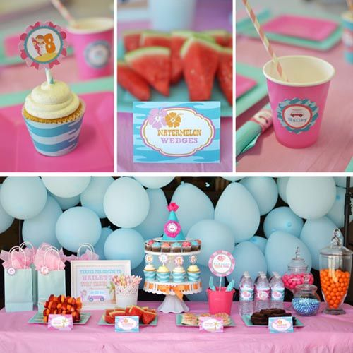 Hang Ten Surfs Up Themed Pastel Girl Birthday Party | Baby Lifestyles