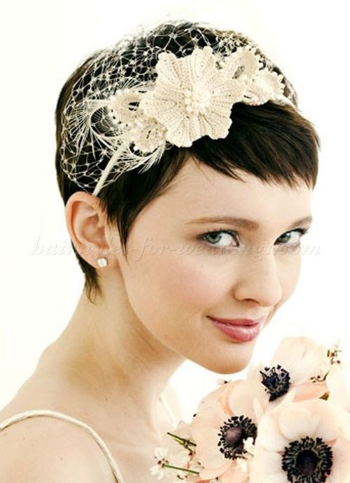 short wedding hairstyles bridal hairstyle for short hair with headband