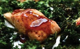 Teriyaki Salmon and Kale Sheet Pan Supper