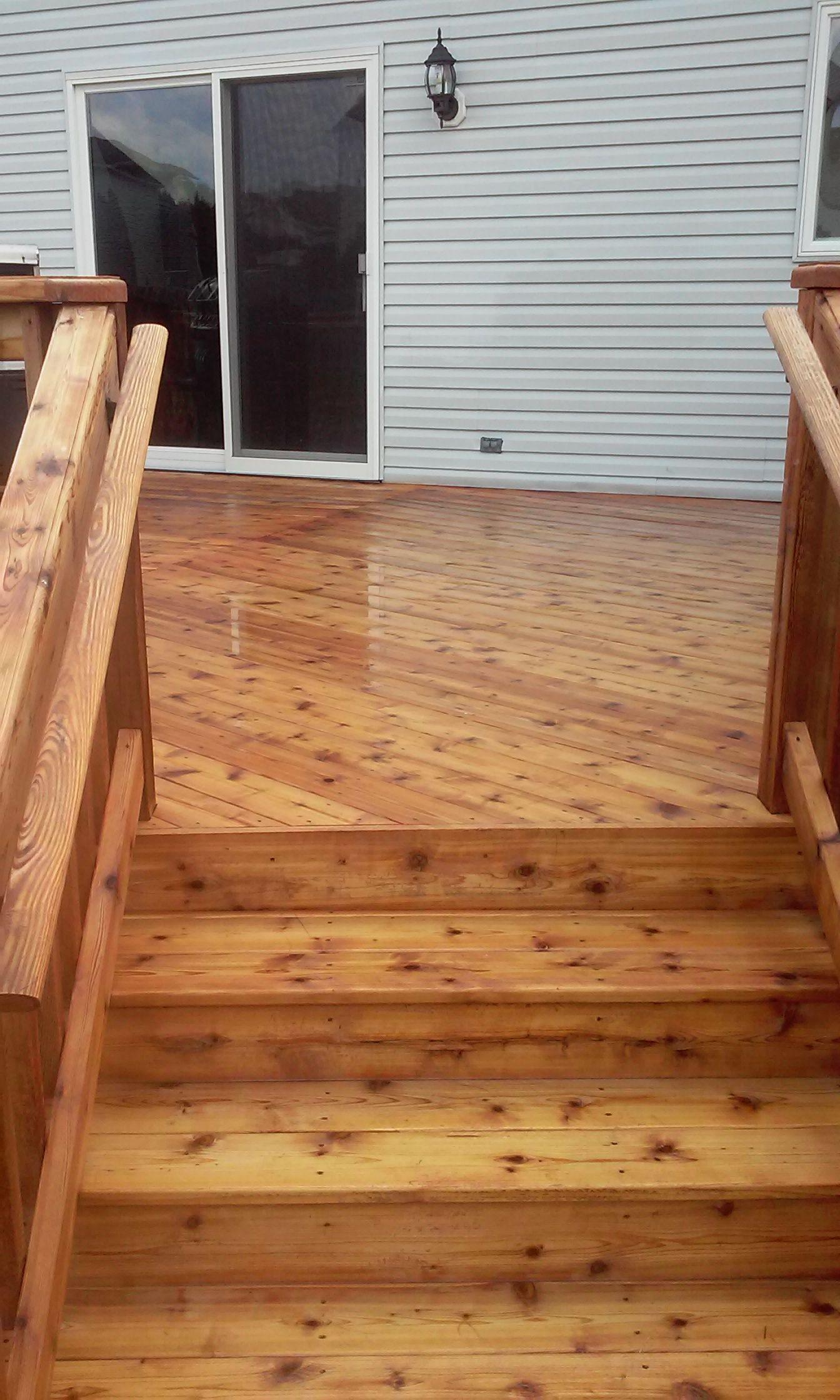 Custom Cedar Wood Deck For Your Backyard Decking Ideas Diy S Wood Deck Decks Backyard Deck