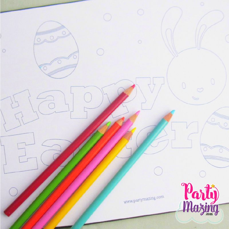 Free Printable Happy Easter Coloring Page By Partymazing An Amazing