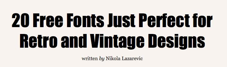 Free Vintage Fonts Vintage Fonts Word Art Design Typography Fonts