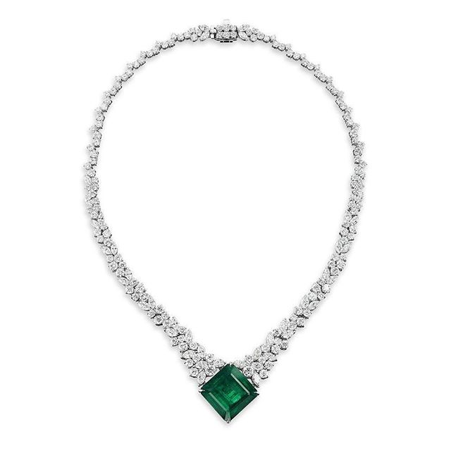 White Gold Foil-lined Blue Bead Pendant Necklace /& Earrings Set