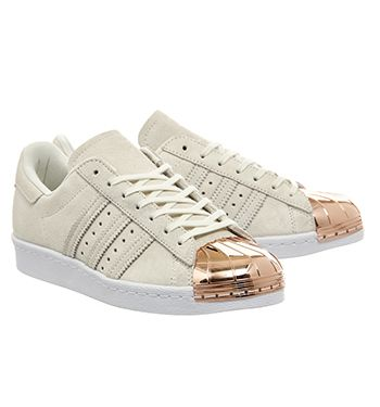 cheap for discount 19cbc 8b717 Adidas Superstar 80's Metal Toe W Off White Rose Gold - Hers ...