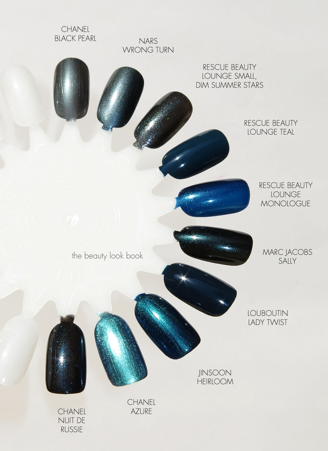 Dark Blue Grey Nail Polishes