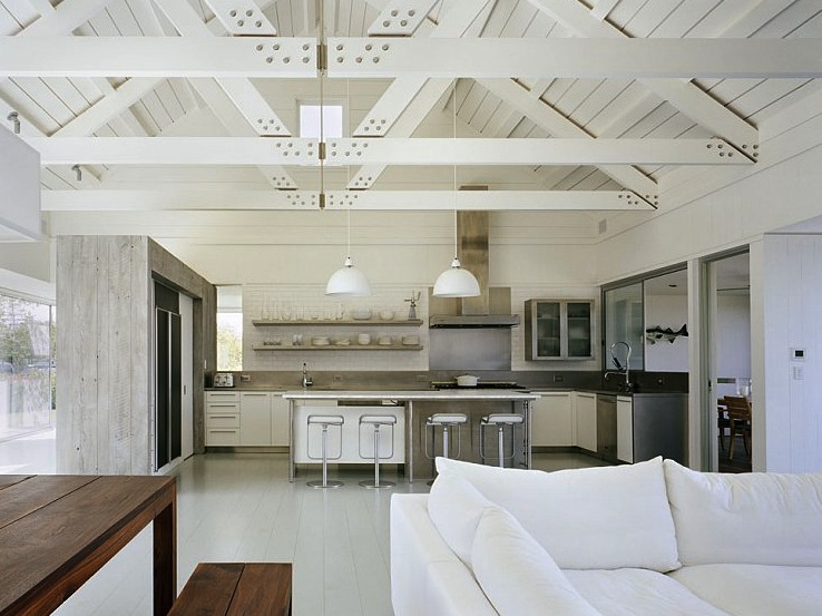 Hampton Style Living room interiors Pinterest Cottages Open