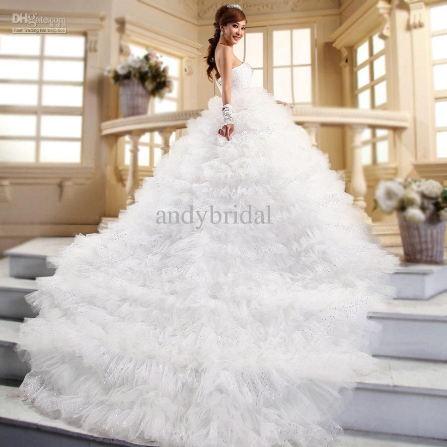 Beautiful wedding dress with long train wedding dresses for Wedding dress long train