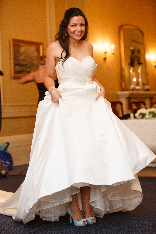Me and my tiffany blue badgley mischkas wedding dresses
