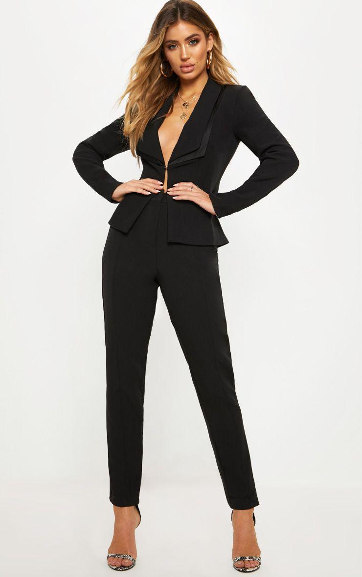 Avani Black Suit Trousers Pantsuits For Women Suits For Women Party Outfits For Women [ 1180 x 740 Pixel ]