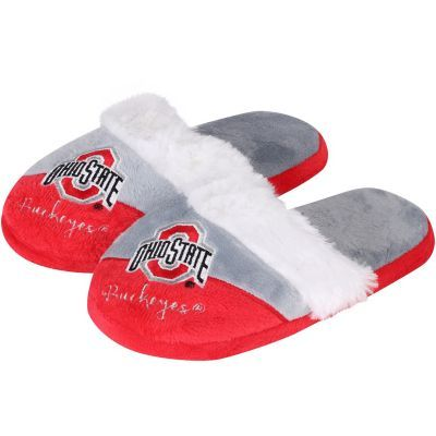 Women's Ohio State Buckeyes Colorblock Script Big Logo Slippers