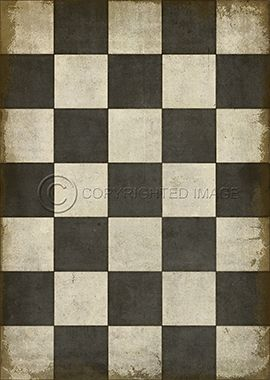 Vinyl Floor Cloth Pattern 7 Checkered Past