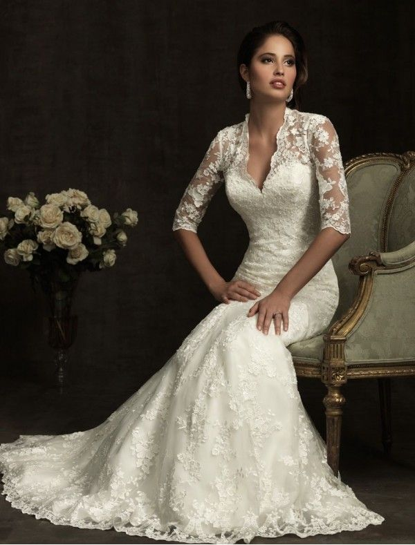 21 Gorgeous Lace Wedding Dresses | Wedding, Sleeve and Dress lace
