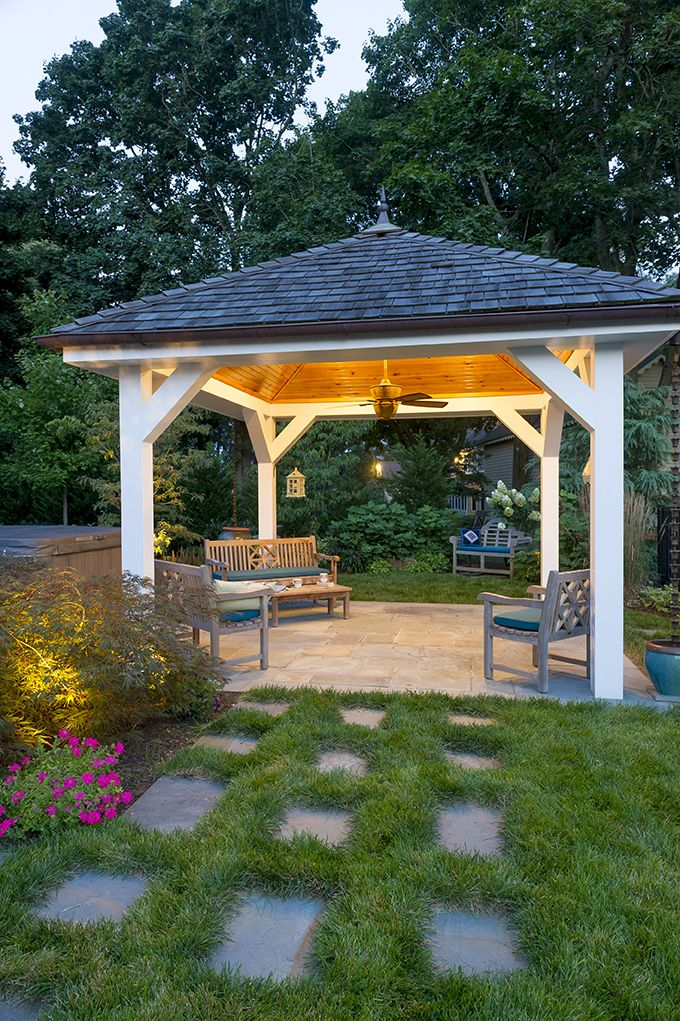 Evening Pool Pavilion - built by Gasper | Backyard pavilion ... on ideas for arbors, ideas for family room, ideas for wedding gazebo, ideas for hot tub gazebo, ideas for metal gazebo,