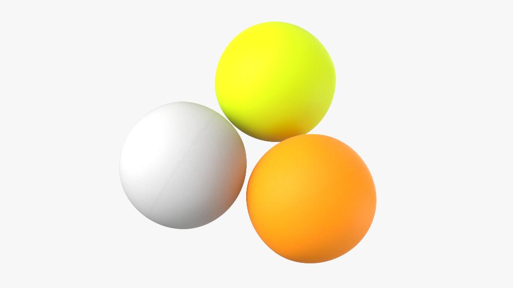 3d Model Ping Pong Balls Turbosquid 1449527 Ping Pong Balls Ping Pong Pong