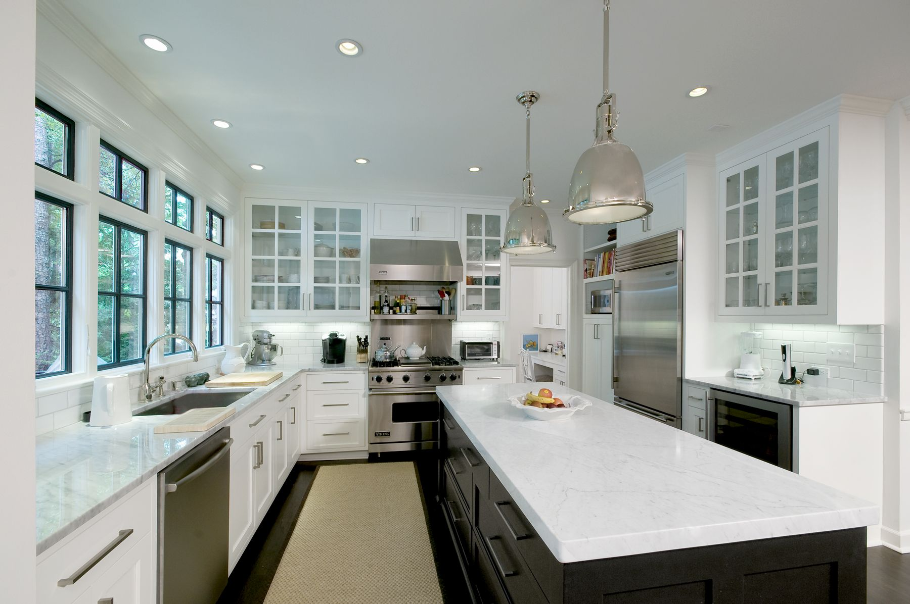 Either Or R Architecture Michael Mcelvey Photograph White Cabinets Black Island And Windo Kitchen Remodel Cost Cheap Kitchen Remodel Kitchen Remodel Layout