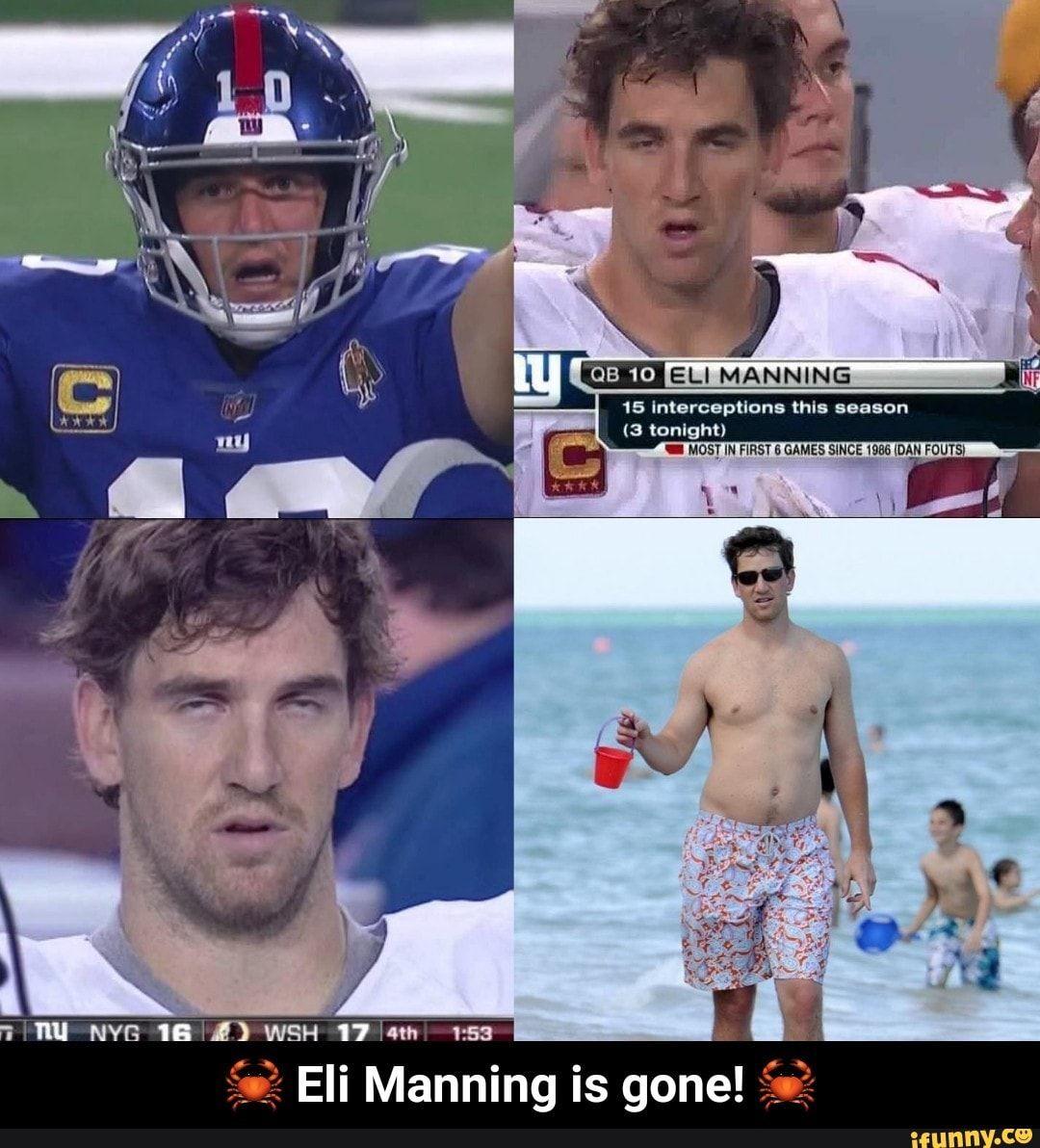 Eli Manning is gone! 🦀 iFunny ) Peyton manning memes