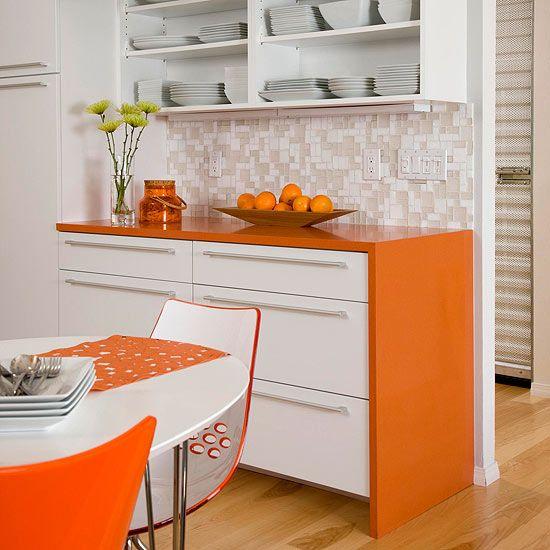 astounding orange kitchen decorating ideas | Kitchen Decorating Ideas: Add Color in 2019 | Orange ...