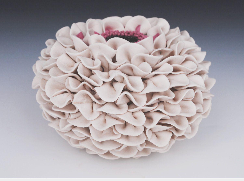 Ceramic vase white textured art sculpture purple sea urchin artist ceramic vase reviewsmspy
