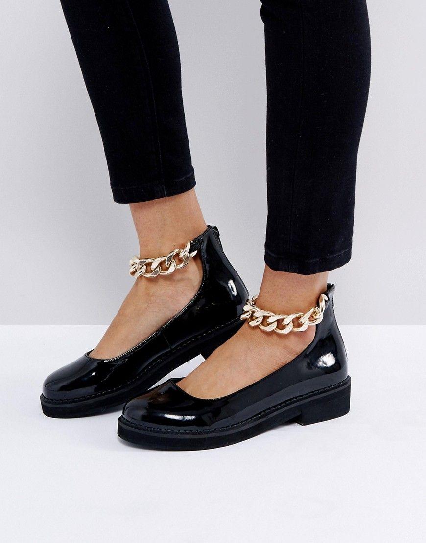 824b174b53a ASOS MINGLE Chunky Flat Shoes - Black