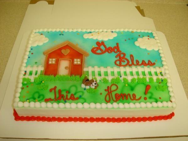 House Warming Cake Decorating Ideas